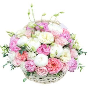 """Цветы в корзинке """"Женские мечты"""""""